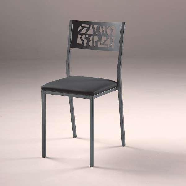 Chaise de cuisine moderne en m tal style industriel for Cuisine metal brosse