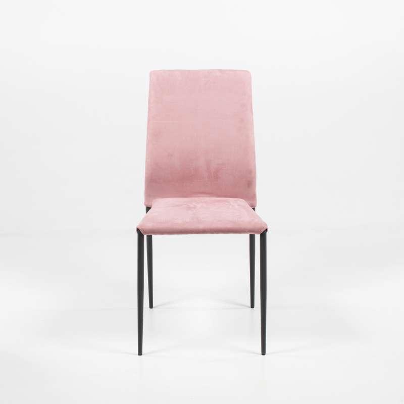 Chaise Moderne En Tissu Aspect Nubuck Et Metal Kendra Ingenia By
