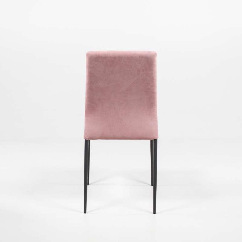 chaise moderne en tissu aspect nubuck et m tal kendra 4 pieds tables chaises et tabourets. Black Bedroom Furniture Sets. Home Design Ideas