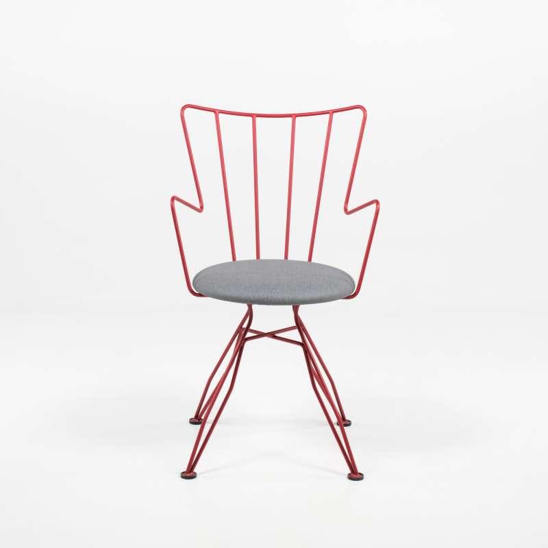 Chaise design en synth tique et m tal well 4 pieds - Chaise sejour design ...