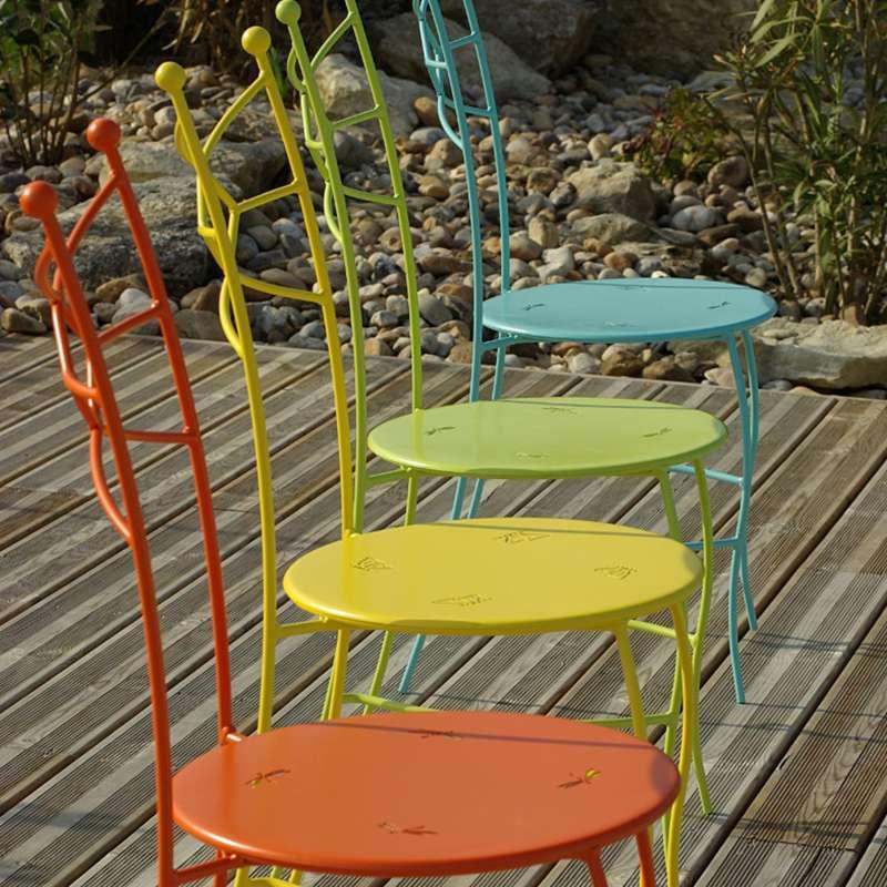 chaise de jardin en m tal seringua 4. Black Bedroom Furniture Sets. Home Design Ideas