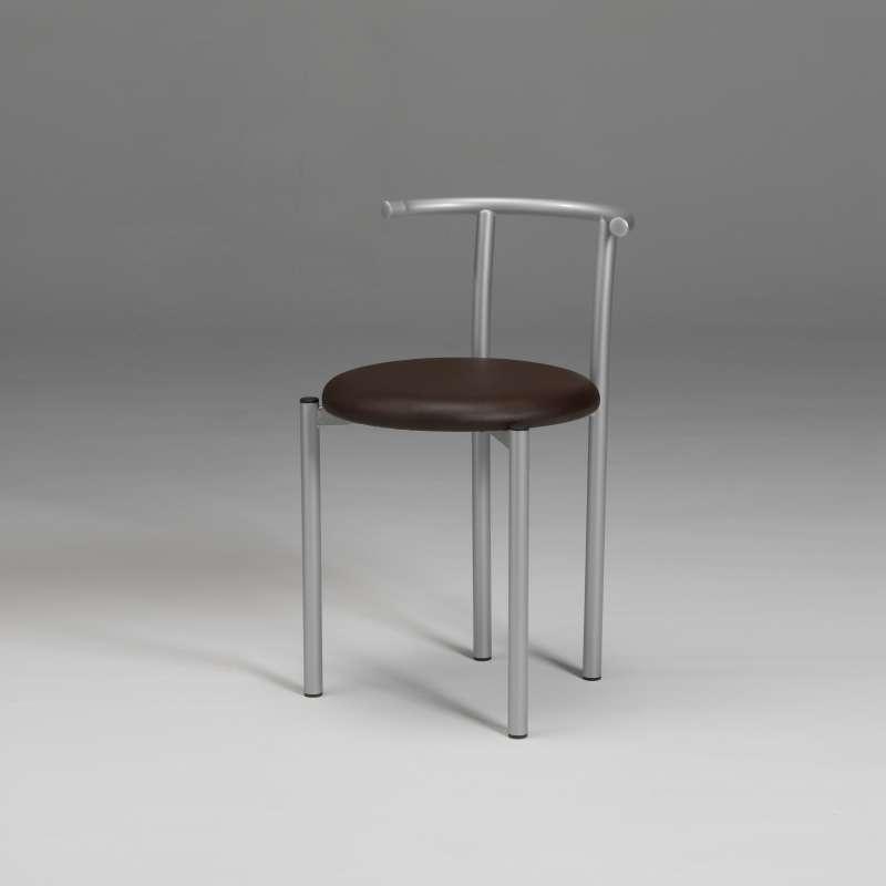chaise dossier bas en m tal et synth tique ad le 4. Black Bedroom Furniture Sets. Home Design Ideas