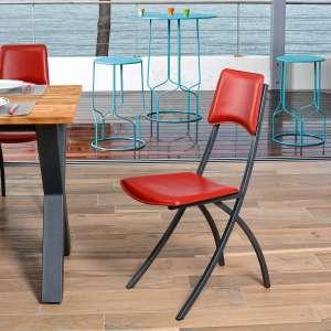 chaise en cuir 4. Black Bedroom Furniture Sets. Home Design Ideas