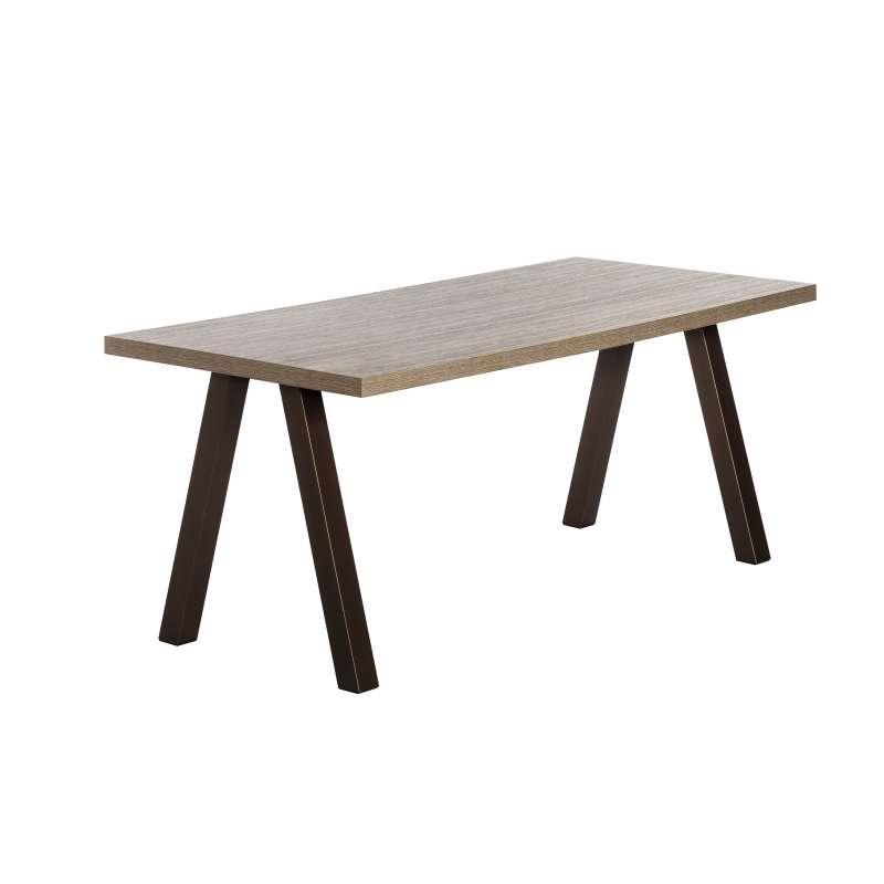 Table de salle manger rectangulaire moderne en stratifi for Table salle a manger 4 pieds