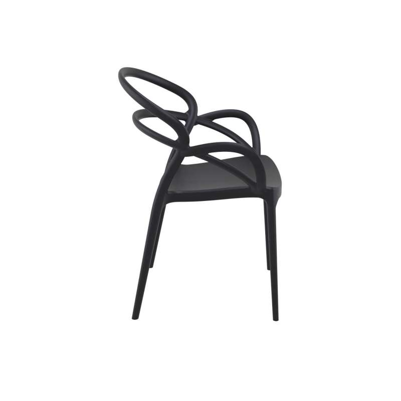 fauteuil design en polypropyl ne mila 4 pieds tables chaises et tabourets. Black Bedroom Furniture Sets. Home Design Ideas
