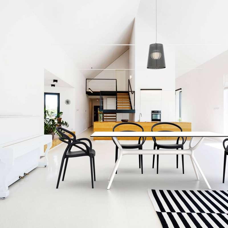 fauteuil design en polypropyl ne mila 4 pieds tables. Black Bedroom Furniture Sets. Home Design Ideas