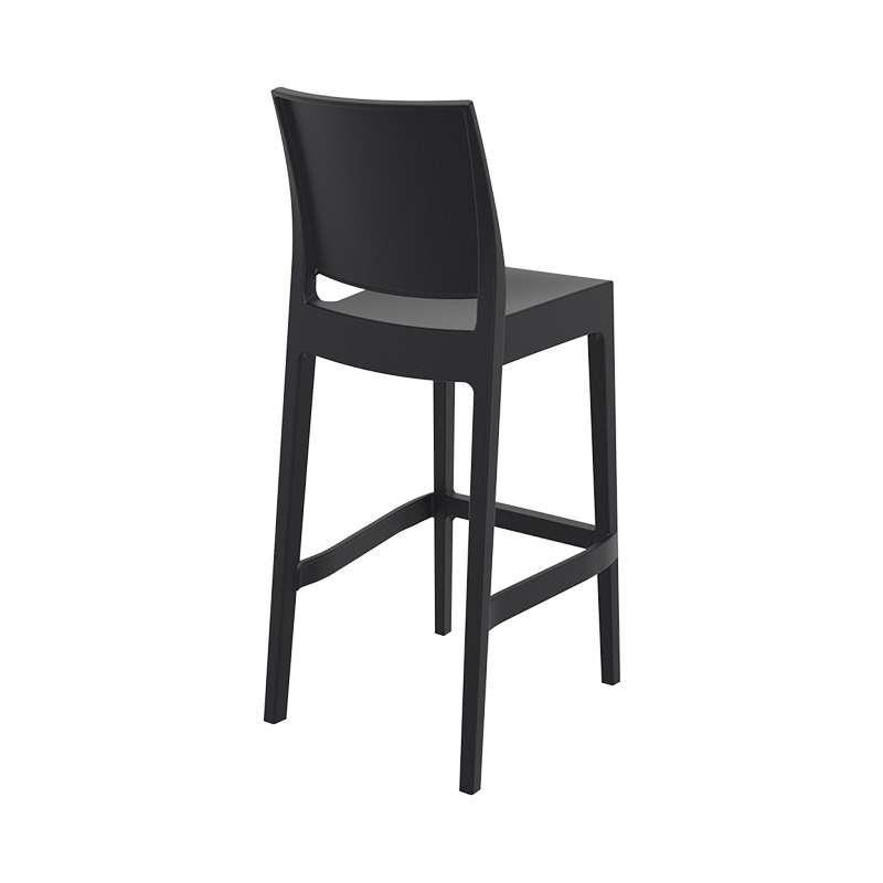 tabouret de bar empilable en polypropyl ne maya 4. Black Bedroom Furniture Sets. Home Design Ideas