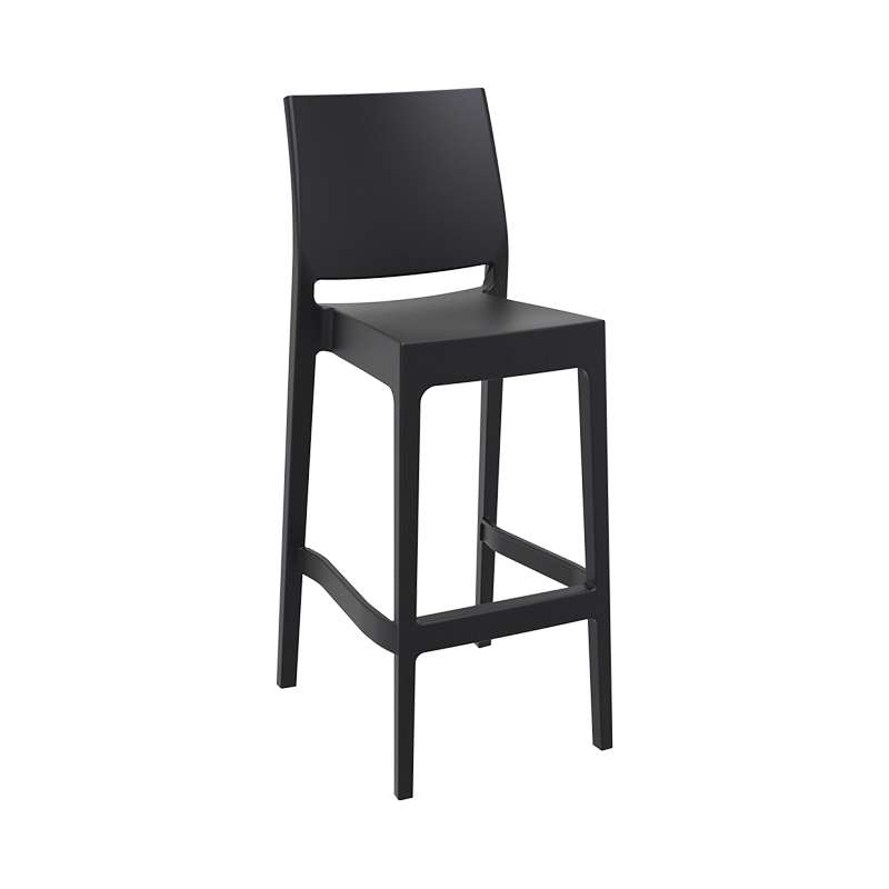 tabouret de bar empilable en polypropyl ne maya 4 pieds tables chaises et tabourets. Black Bedroom Furniture Sets. Home Design Ideas