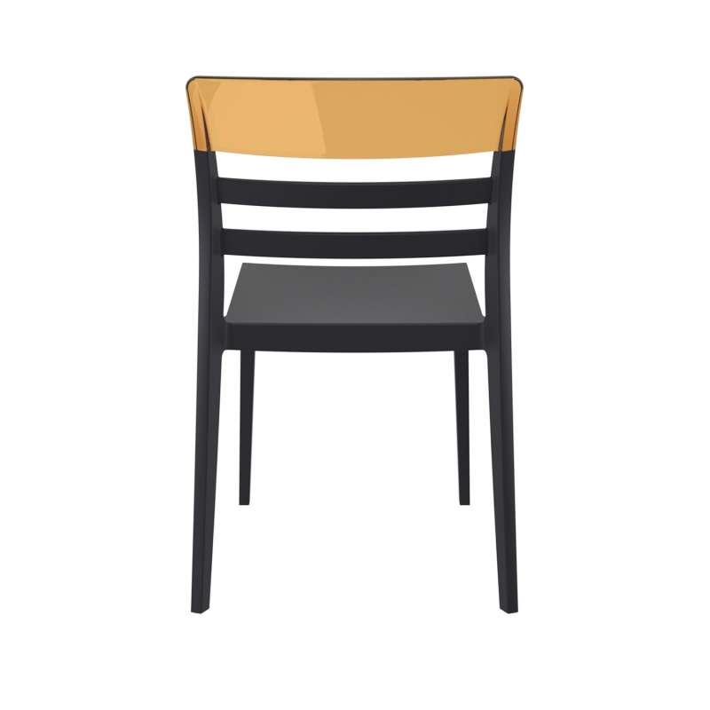 chaise moderne empilable en polypropyl ne et polycarbonate moon 4. Black Bedroom Furniture Sets. Home Design Ideas