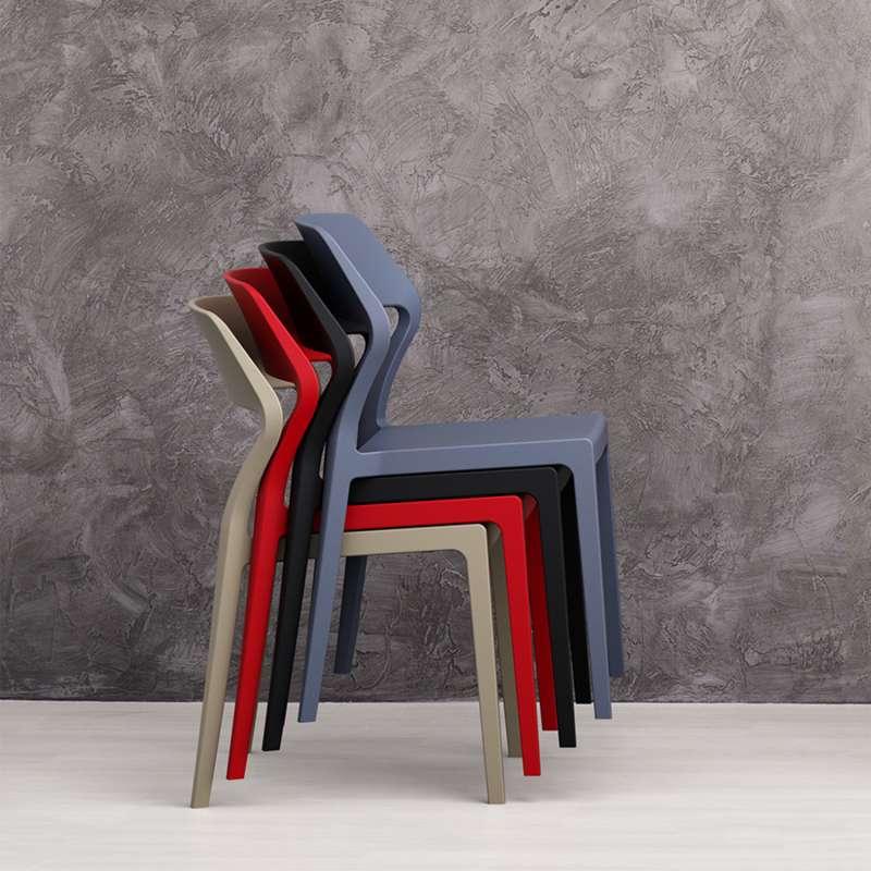 chaise empilable design en polypropylne snow 5 - Chaise Empilable
