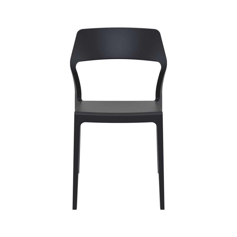 chaise d 39 ext rieur empilable design en polypropyl ne snow 4 pieds tables chaises et tabourets. Black Bedroom Furniture Sets. Home Design Ideas