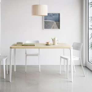 Chaise moderne en polypropylène blanc - Nené Midj®
