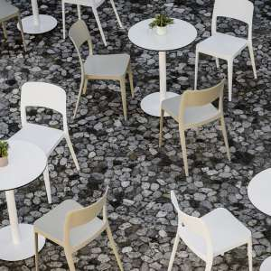 Chaise de terrasse blanche - Nené Midj®