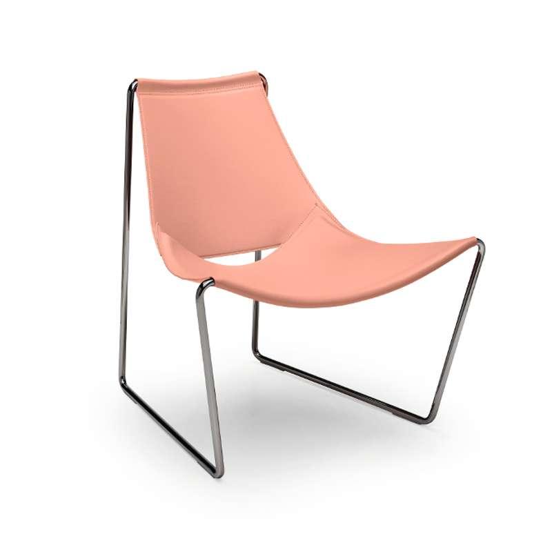 chaise transat design en cro te de cuir et m tal apelle. Black Bedroom Furniture Sets. Home Design Ideas