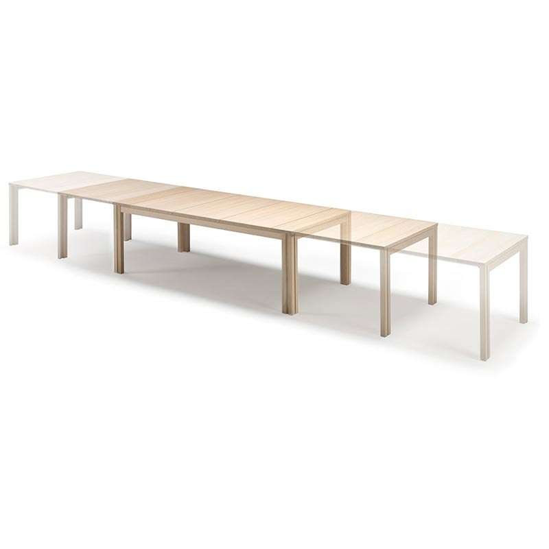 Table scandinave rectangulaire en bois avec allonges for Table scandinave avec rallonge