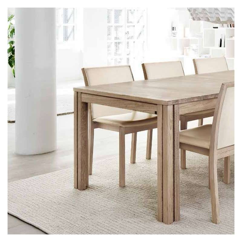 table scandinave rectangulaire en bois avec allonges sm23 24 4. Black Bedroom Furniture Sets. Home Design Ideas