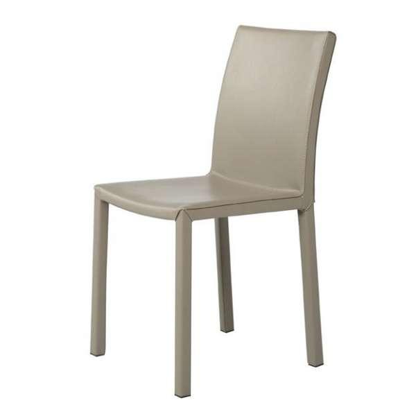 chaise de salle manger contemporaine en synth tique. Black Bedroom Furniture Sets. Home Design Ideas