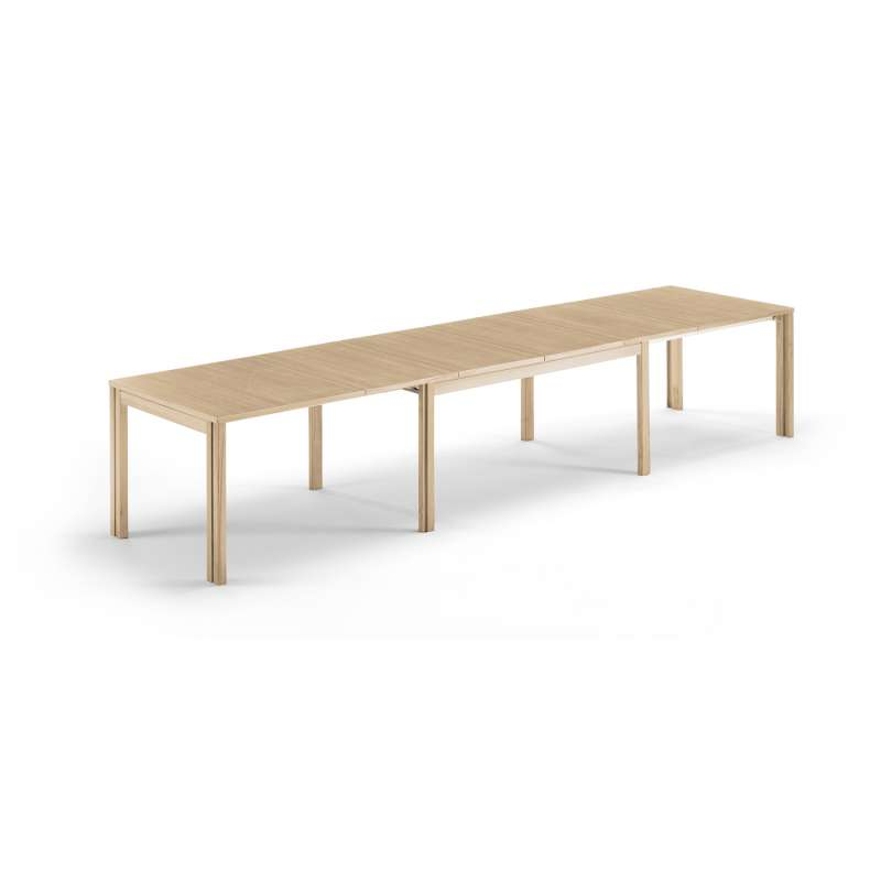 Table scandinave rectangulaire en bois avec allonges for Table rectangulaire bois avec allonges