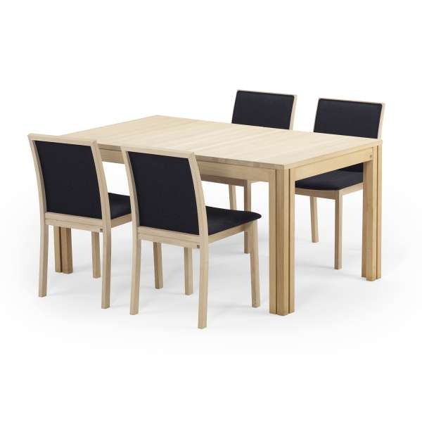 table scandinave rectangulaire en bois avec allonges sm23 24 4. Black Bedroom Furniture Sets. Home Design Ideas