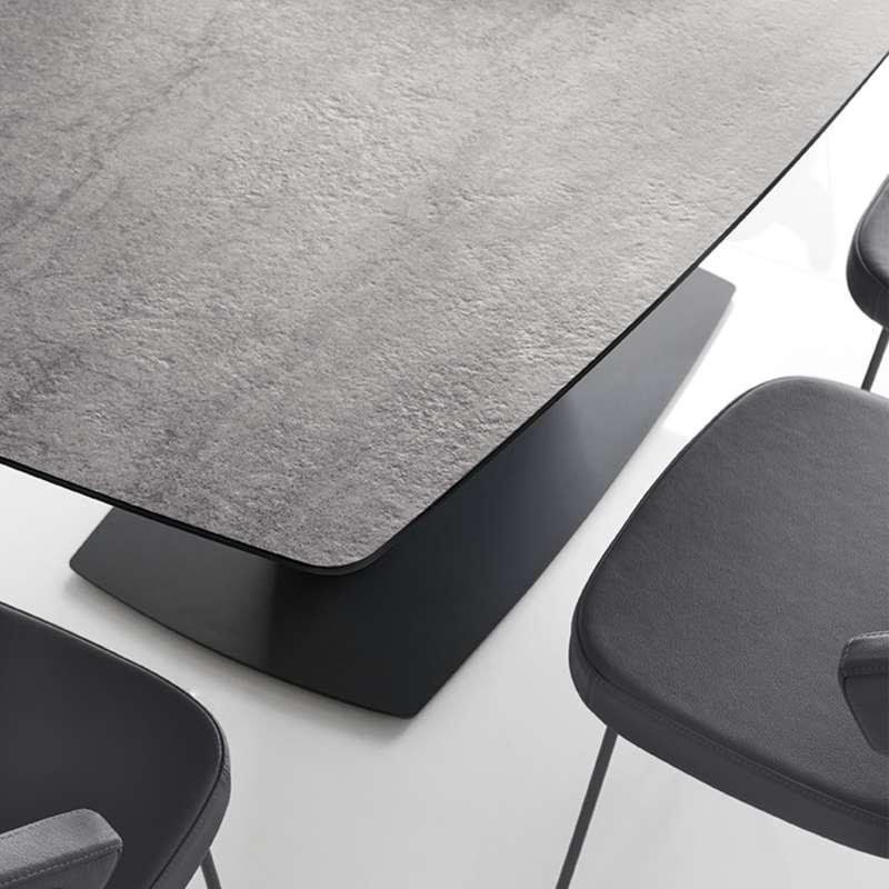 table de salle manger rectangulaire extensible en c ramique athos connubia 4. Black Bedroom Furniture Sets. Home Design Ideas