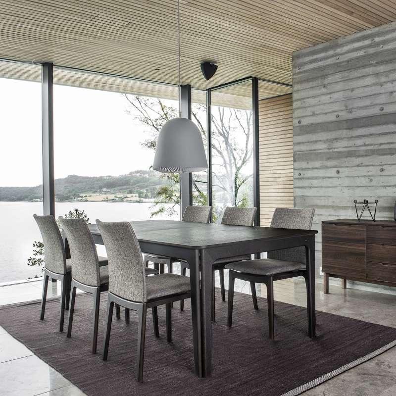 Table de salle à manger scandinave en bois avec allonges - SM26-27 ...