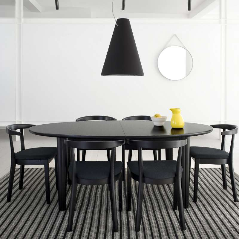 table de salle manger ovale scandinave en bois avec allonges sm78 4. Black Bedroom Furniture Sets. Home Design Ideas