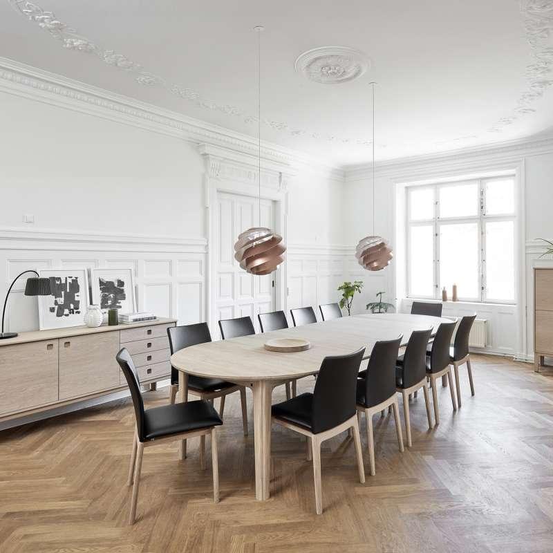 table ronde en bois style scandinave extensible sm112 4 pieds tables chaises et tabourets. Black Bedroom Furniture Sets. Home Design Ideas