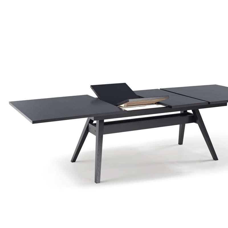 table de s jour scandinave extensible en bois sm11 4 pieds tables chaises et tabourets. Black Bedroom Furniture Sets. Home Design Ideas