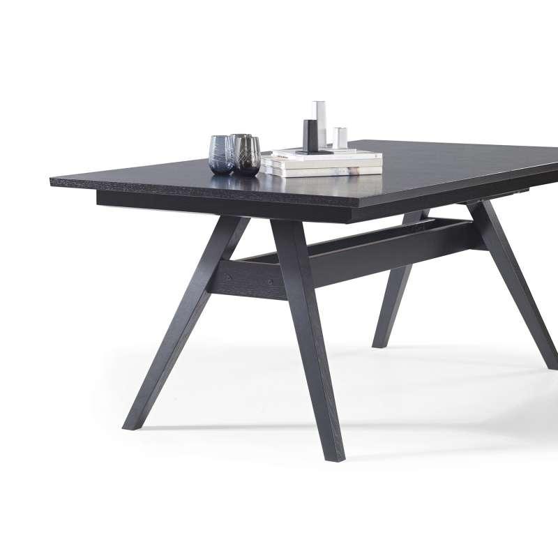 Table de s jour scandinave extensible en bois sm11 4 pieds tables chaises et tabourets - Pied de table scandinave ...