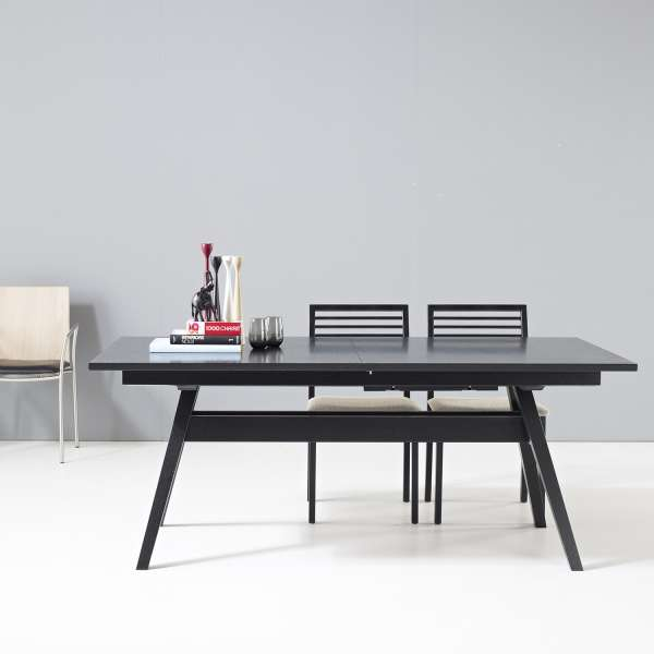 table de s jour scandinave extensible en bois sm11 4. Black Bedroom Furniture Sets. Home Design Ideas
