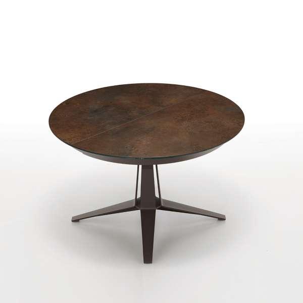 table design ronde extensible en c ramique pied central en m tal link midj 4 pieds tables. Black Bedroom Furniture Sets. Home Design Ideas