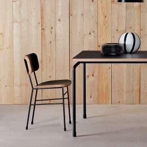Chaise rétro en fénix noir et métal noir - Master S Midj®