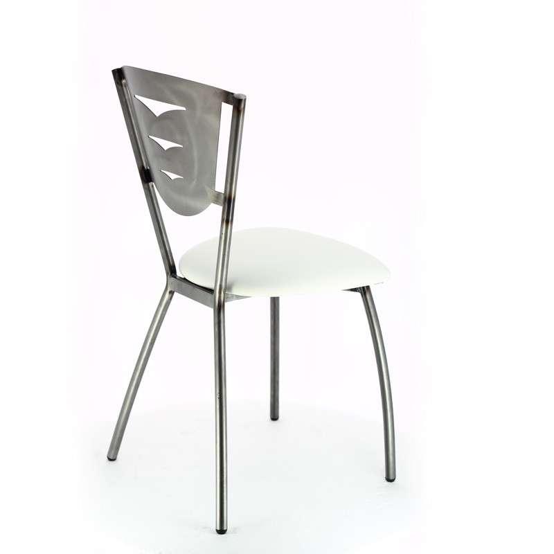 chaise de cuisine en m tal fabriqu e en france h v a 4 pieds tables chaises et tabourets. Black Bedroom Furniture Sets. Home Design Ideas