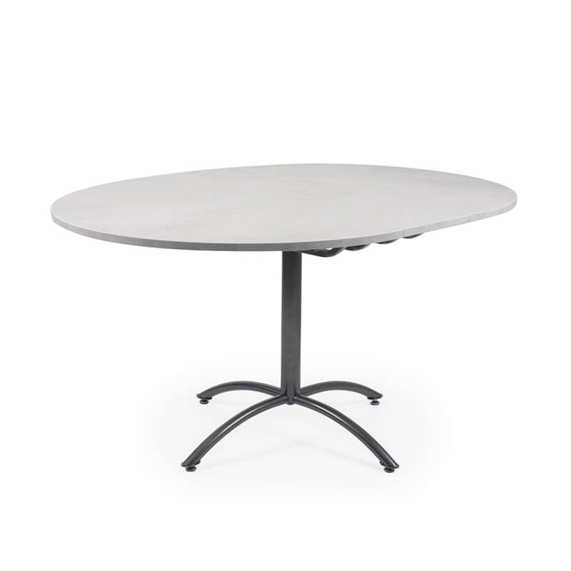Table Ronde Pied Central Extensible En M Lamin Et M Tal