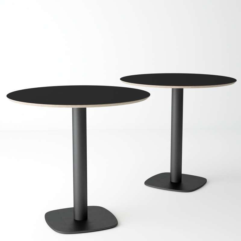 table de cuisine ronde en verre petit espace circus 4 pieds tables chaises et tabourets. Black Bedroom Furniture Sets. Home Design Ideas