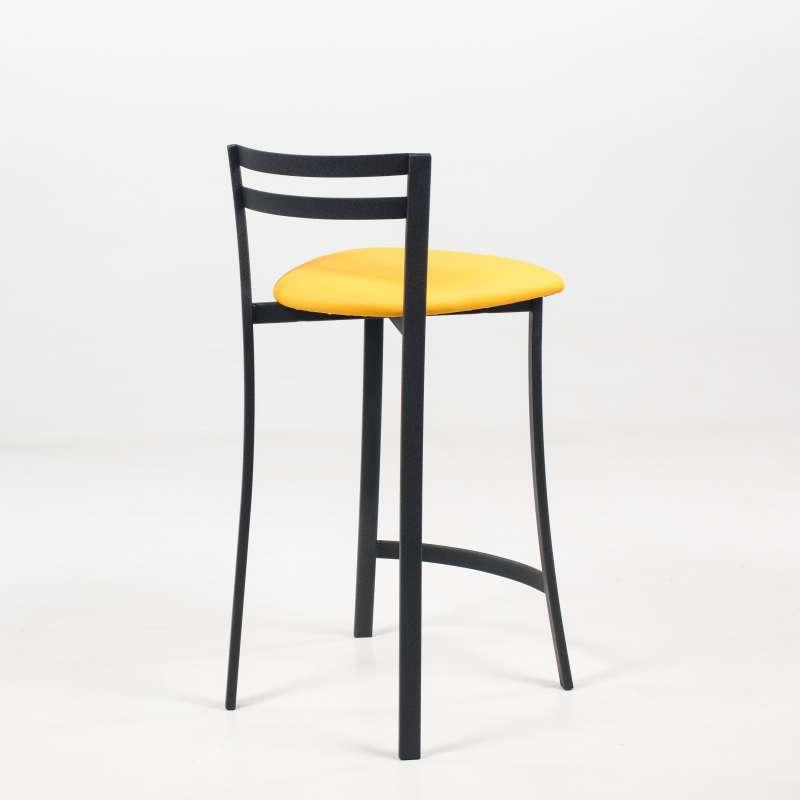 tabouret snack avec dossier bas en synth tique et m tal made in france urane 4. Black Bedroom Furniture Sets. Home Design Ideas