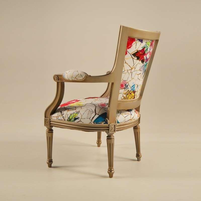 fauteuil cabriolet louis 16 fabrication fran aise en tissu. Black Bedroom Furniture Sets. Home Design Ideas