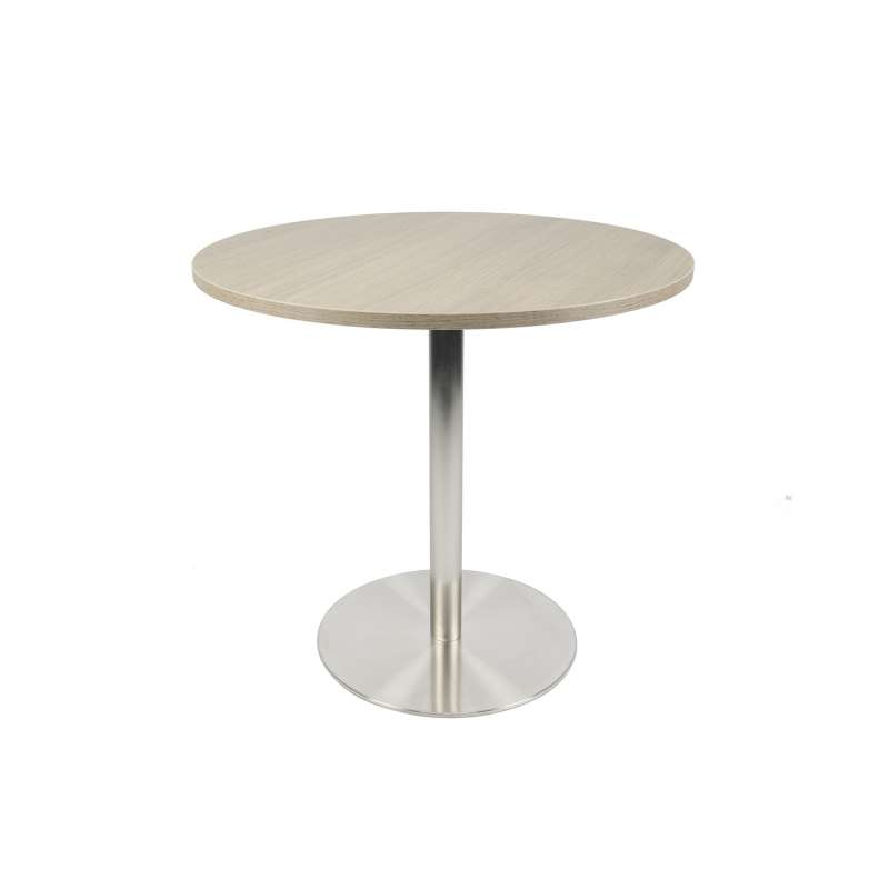 Table Ronde Cuisine Pied Central petite table de cuisine ronde en mélaminé avec pied central en inox