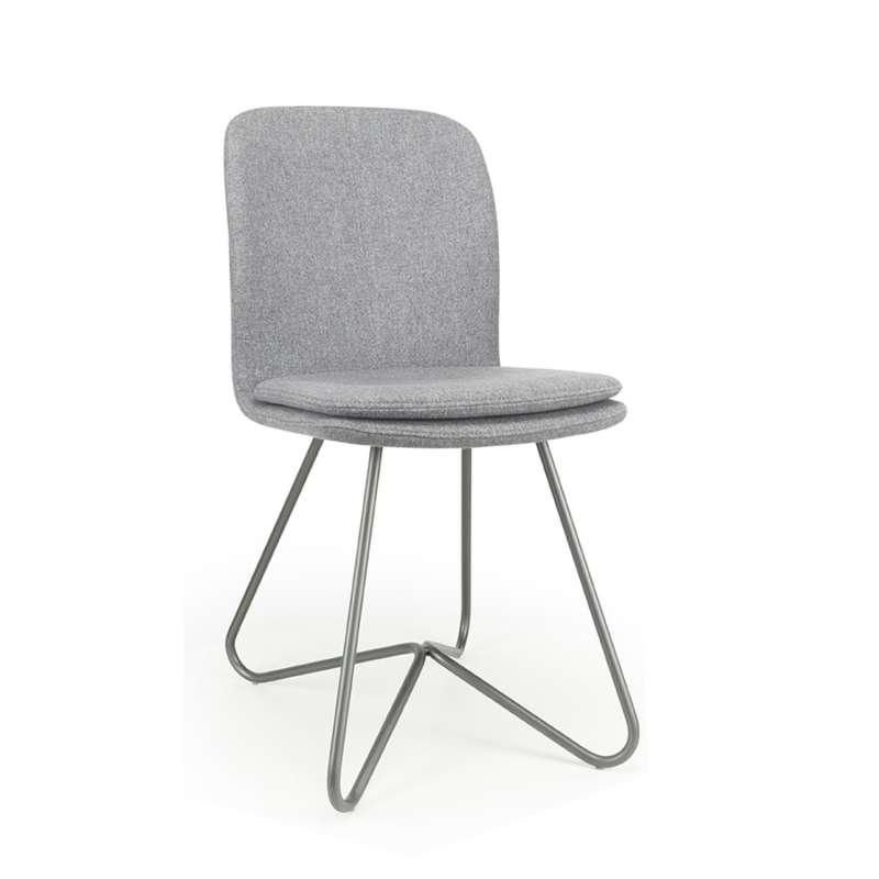 Chaise Design De Salle A Manger Avec Coque En Tissu Rembourree Et