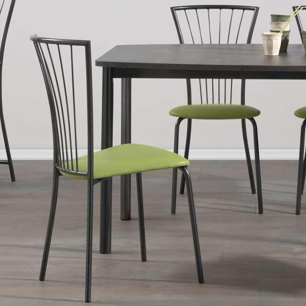 Chaise de cuisine en synthétique et métal - Jana
