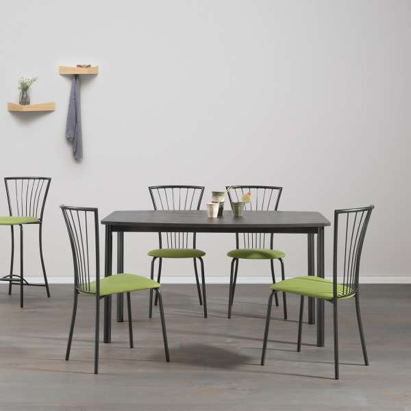 table de cuisine contemporaine en m lamin et m tal aruba 4. Black Bedroom Furniture Sets. Home Design Ideas