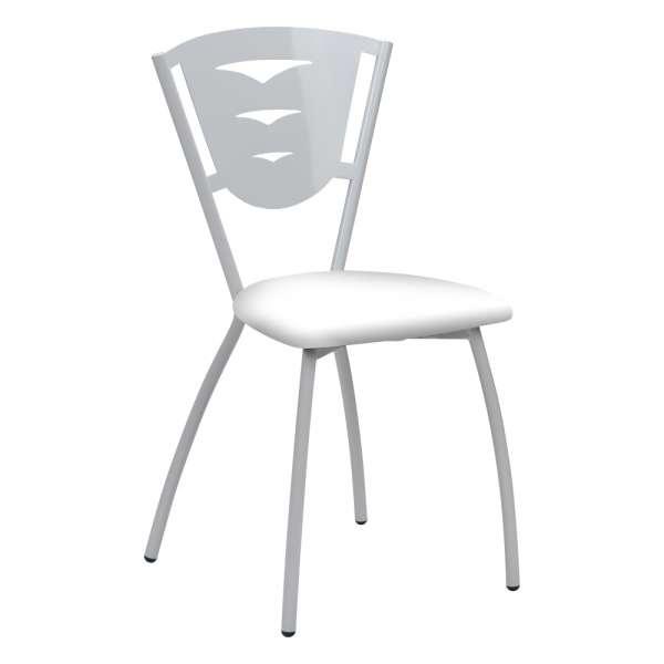 Chaise de cuisine en métal fabriquée en France - Hévéa