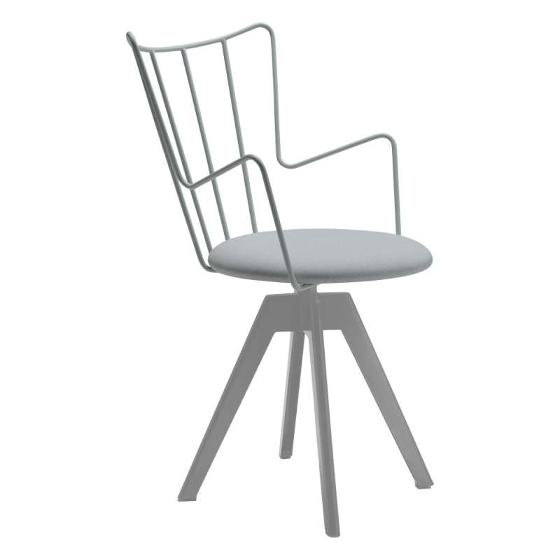 chaise pivotante design en synth tique et m tal well 4. Black Bedroom Furniture Sets. Home Design Ideas