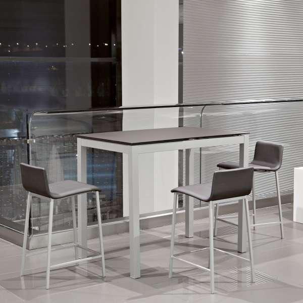 Table snack de cuisine petit espace en c ramique avec for Table petits espaces