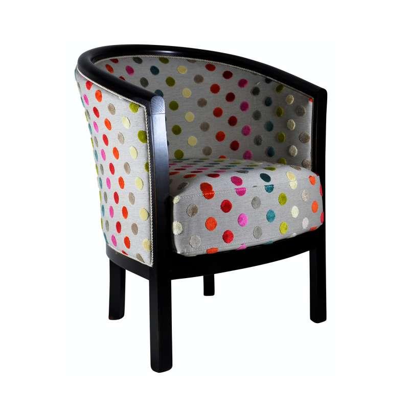 fauteuil tonneau pour salon fabrication fran aise en tissu et bois massif julien 4. Black Bedroom Furniture Sets. Home Design Ideas