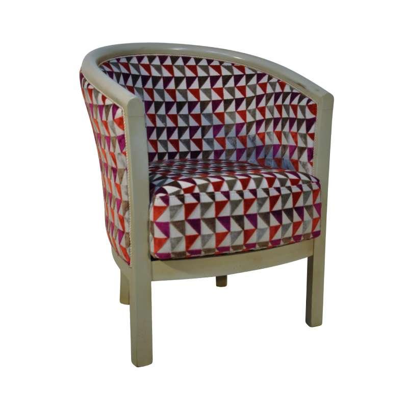 fauteuil tonneau pour salon fabrication fran aise en tissu. Black Bedroom Furniture Sets. Home Design Ideas