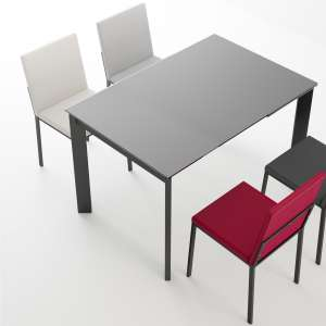 table de cuisine en verre soldes 4 pieds. Black Bedroom Furniture Sets. Home Design Ideas