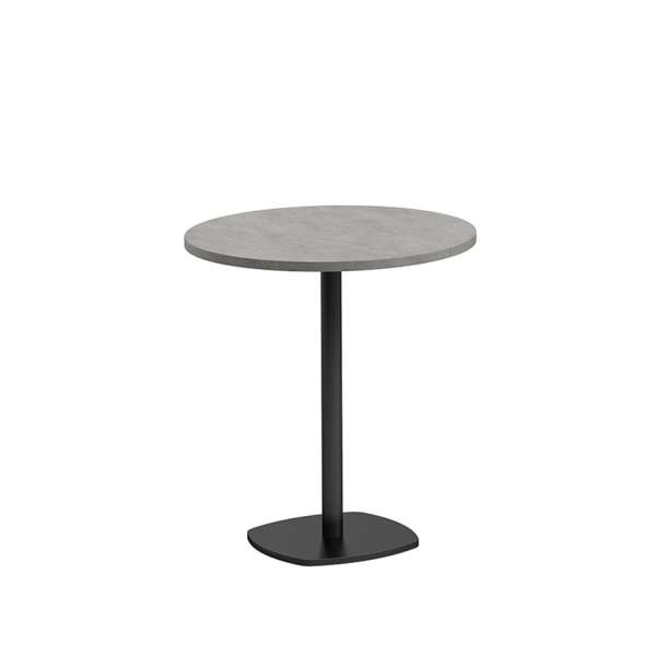 petite table de cuisine ronde diam tre 70 cm en stratifi avec pied central circa 4. Black Bedroom Furniture Sets. Home Design Ideas