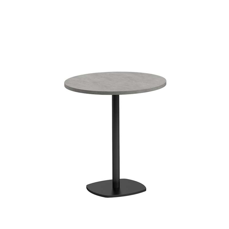 petite table de cuisine ronde diam tre 70 cm en stratifi avec pied central circa 4 pieds. Black Bedroom Furniture Sets. Home Design Ideas