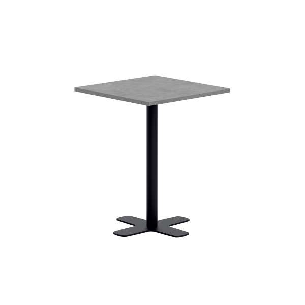 petite table snack carr e en stratifi avec pied central en m tal spinner 4. Black Bedroom Furniture Sets. Home Design Ideas